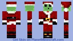 Slime Dressed As Santa Clause Minecraft Skin