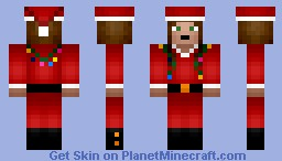 Santa Girl with lights Minecraft Skin