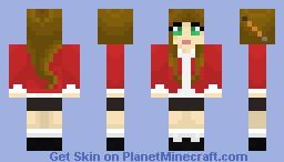 Brown Hair School Girl Minecraft Skin