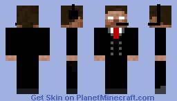 Secret Agent Herobrine Minecraft Skin