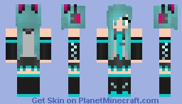 Cцтїё ~ Hatsune Miku Minecraft Skin