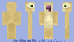 Sid The Sloth (For Book and Movie Skin Contest!) (Real Imitation Fur!) (Finalist!) (48/100!) Minecraft Skin
