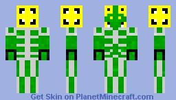 Skeleton-armored Space lizard Minecraft Skin