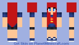Diamond girl Minecraft Skin