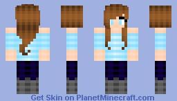 Sky Blue Minecraft Skin