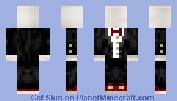 Slender In A Fancy Suit Minecraft Skin