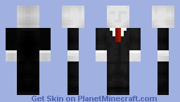 """Slender: The Arrival""- Slender Man Minecraft Skin"