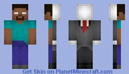 Slender-Brine (Slenderman/Herobrine) Minecraft Skin