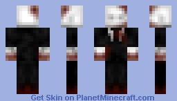 More detailed Slender man Minecraft Skin