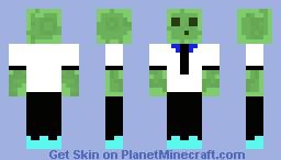 Slime With White Tuxedo Minecraft Skin