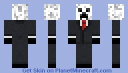 Snow/White Creeper in suit Minecraft Skin