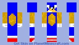 Sonic The Hedgehog! Minecraft Skin