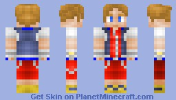 Sora (KH1 with KH2 version in the description) Minecraft
