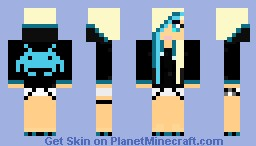 Space Invaders Girl Minecraft Skin