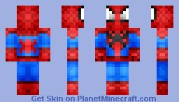 -=SpiderMan=- *Chibi* UPDATED! Minecraft Skin
