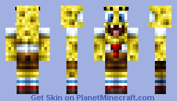 Spongebob [Much better in 3D] Minecraft Skin