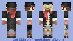 Steampunk scientist Minecraft Skin