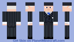Roger Sterling with a hat  (Mad Men) Minecraft Skin