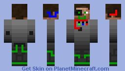 Steve the Cyborg Minecraft Skin