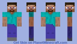 5 faced Steve Minecraft Skin