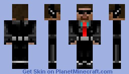Steve the agent! Minecraft Skin