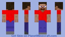 Steve - Red Shirt Minecraft Skin