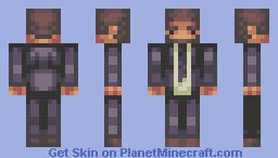 Steve in a suit. Minecraft