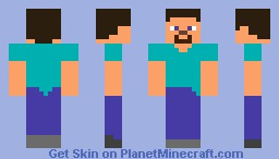 Cell Shaded Steve Minecraft Skin