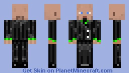 Striped Suit Bald Minecraft Skin