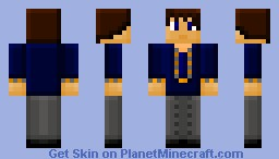 Suit and tie,a blocky skin Minecraft