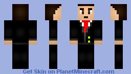 Suited Male Minecraft Skin