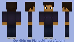 Enderman--Mob shirt series #2 (hair is better in preview) Minecraft Skin