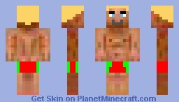 Blond Swimmer Minecraft Skin