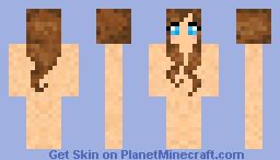 Cute brunette base Minecraft Skin