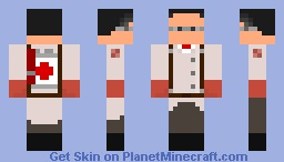 TF2 RED Medic Minecraft Skin