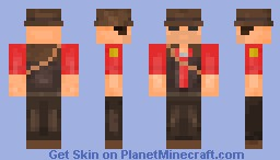 Team Fortress 2 Sniper Minecraft Skin