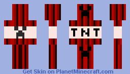 TNT Creeper Minecraft Skin