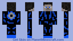 Steave If He Was From TRON Minecraft Skin
