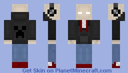 Really Cool Teen Slender-Brine With A Creeper Hoodie And Headphones!!! [Worse in Preview?!?!] Minecraft Skin