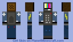 TV Man (Disqualified contest skin) Minecraft Skin