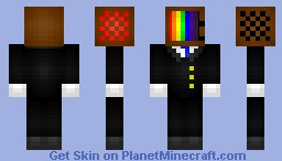 TV in a suit (rainbow screen) Minecraft