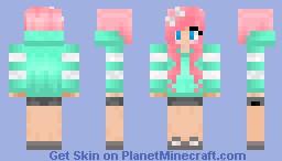 Teal Hoodie Minecraft Skin