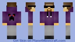 Teen Steve || Awesome Creeper Hoodie & Sunglasses! Minecraft Skin