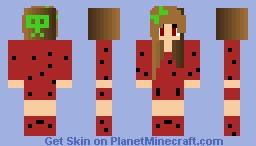Strawberry Girl Minecraft Skin
