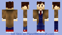 The 10th Doctor (Includes Version without a Trenchcoat!) Minecraft Skin