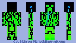The Matrix Creeper Minecraft Skin
