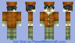 The Mushtown Train Conductor (3D) Minecraft Skin