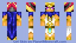 Pharaoh Atem (Yu Gi Oh!) *looks better in 3D* Minecraft Skin