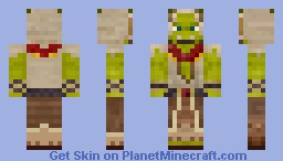 Thrall [World of Warcraft][See 3D for rounded hood!] Minecraft Skin
