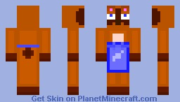 Tom Nook ( Animal Crossing )( Looks Best In 3D Preview ) Minecraft Skin